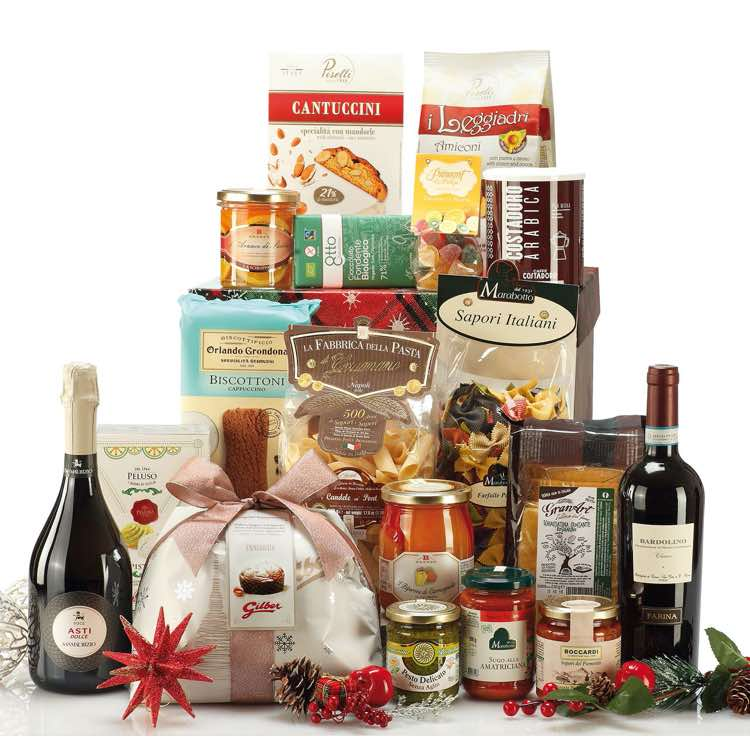 Gift Box with 18 italian gourmet specialities